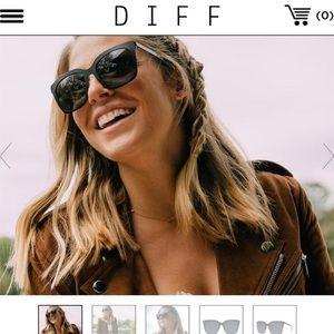 Diff Ella Black Sunglasses